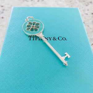 Tiffany&Co Large Blue Enamel Key Pendant